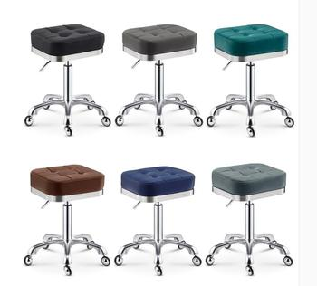 Swivel Pulley Beauty Stool Big Work Stool Makeup Hair Salon Manicure Stool
