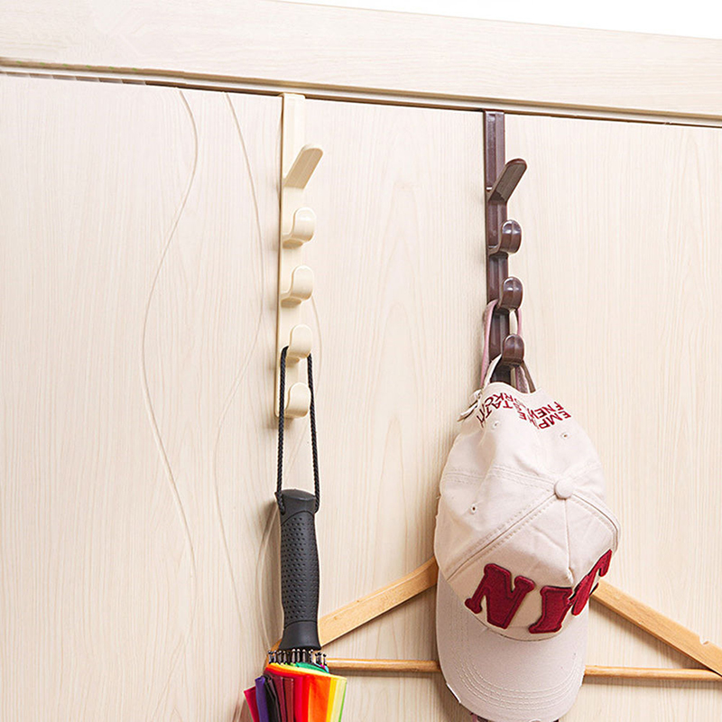 New Multi-purpose Five-segment Hooks Storage Household Hook Rack Organizer Clothes Coat Hat Bag Hanger Holder Hot Sale 2019