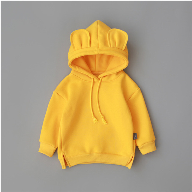New Spring Autumn Baby Boys Girls Clothes Cotton Hooded Sweatshirt 4
