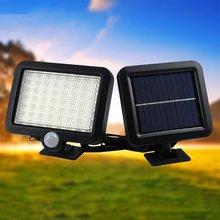 Light Infrared-Motion-Sensor Garden Outdoor Fence Wall-Mounted Patio 100leds Solar-Power