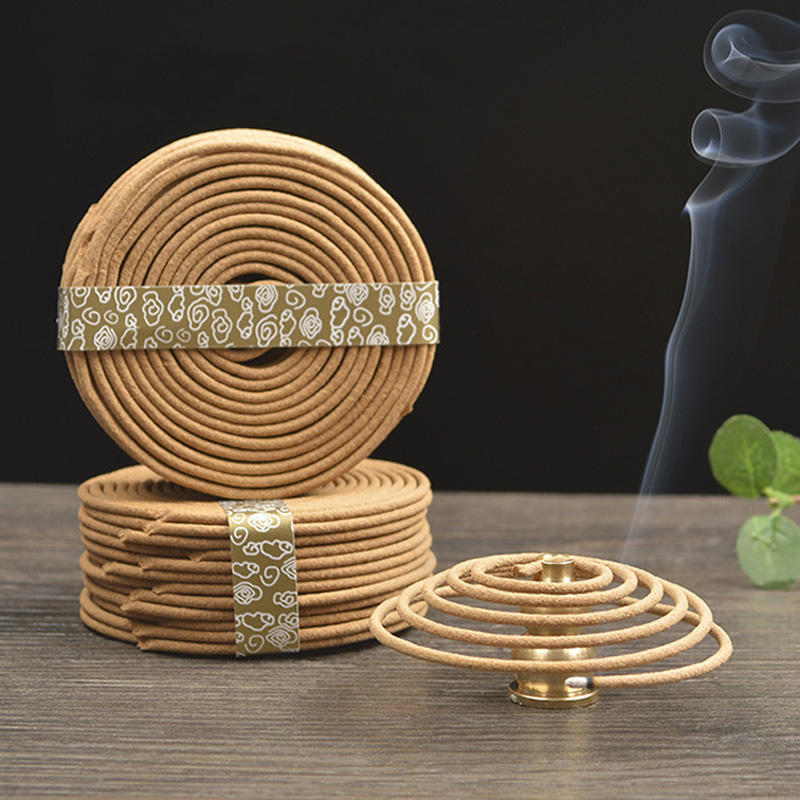 48pcs YXY Natural Coil Incense Aromatherapy Fragrance Indoors Indian Buddhist Sandalwood Without Censer