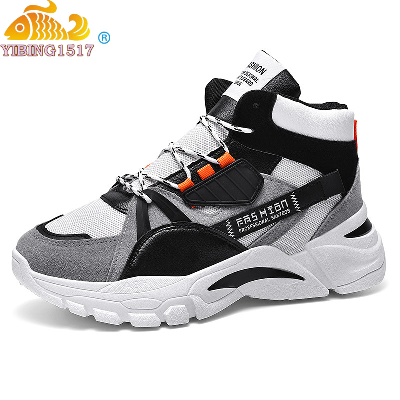 Winter Snow Boots Men Trend Casual High Top Shoes Male Outdoor Chunky Sneakers Men Classic Fluffy Sport Basketball Botas Hombre