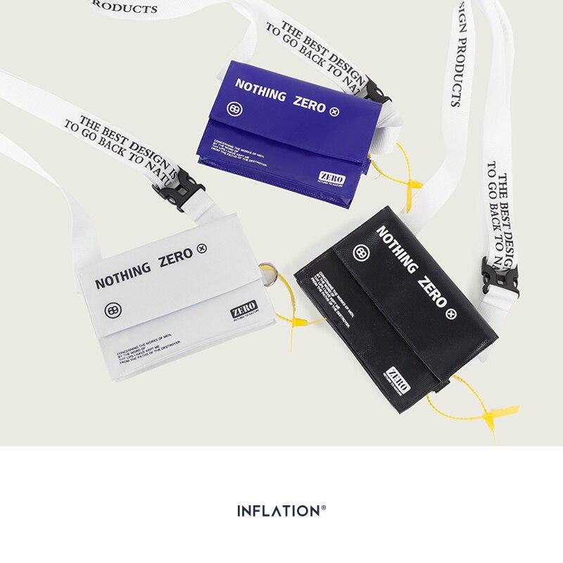 INFLATION 2019 Letter Printing 100% PE Chest Bag Small Waist Belt Bag Mens Fashion Waist Pack Streetwear Messenger Bag 224AI2019