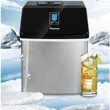 25 кг/24 ч коммерческий Ica чайник маленький чайный магазин стол бар кубик льда делая машину сделать квадратный лед дома из нержавеющей стали