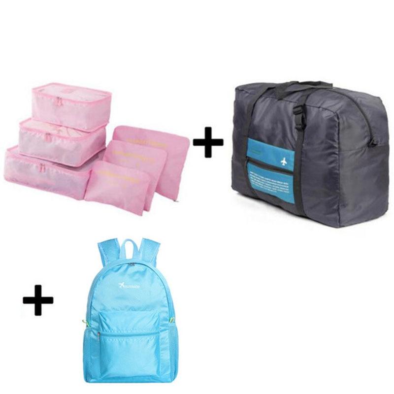 IUX Travel Mesh Bag Luggage Organizer Packing Men And Women Luggage Travel Bags Packing Cubes Organizer Folding Bag Bags
