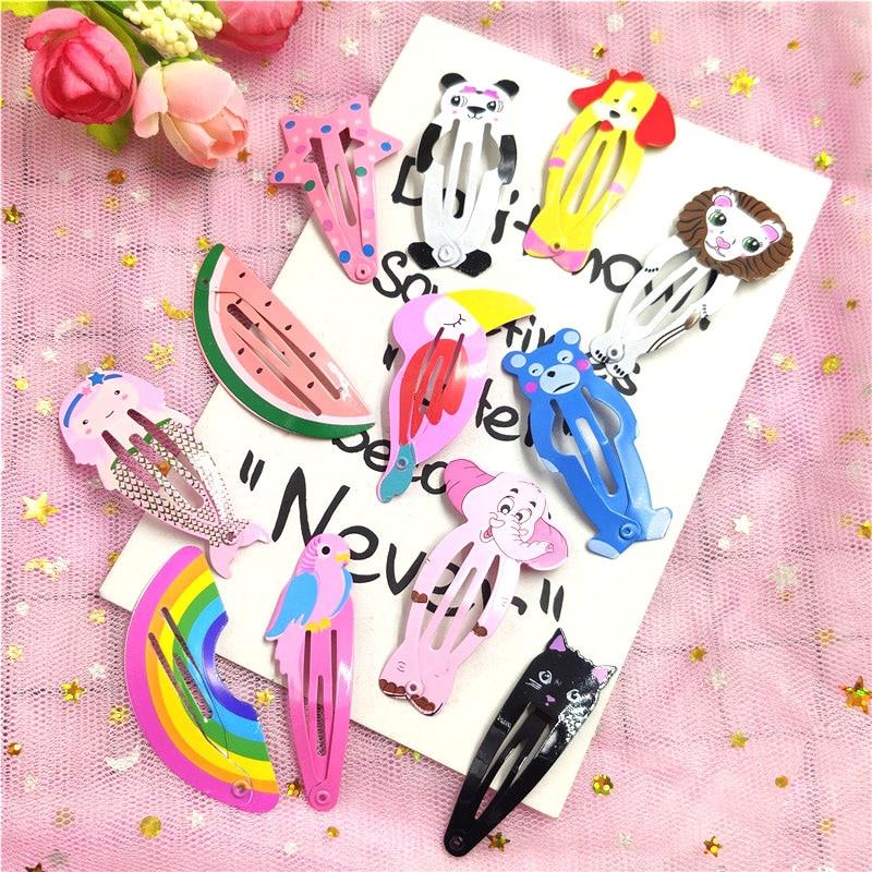 1PCS Lovely Girls Elegant Animal Paradise Child Scrub Hair Clip Sweet Hair Scrunchy BB Hairpins Barrettes Women Hair Accessories