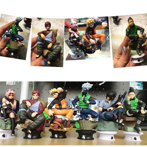 Image 2 - 6 PCS PVC Anime Naruto Action Figures Dolls Set New Uzumaki Naruto Uchiha Sasuke Hatake Kakashi Model Collection Gift Toys