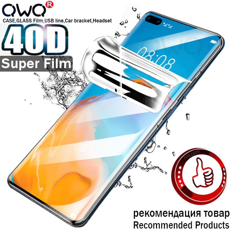 40D Original Hydrogel pour Huawei P40 P20 P30 Lite Pro protecteur d'écran pour Huawei Mate 20 Pro P10 Lite Film de Protection non verre