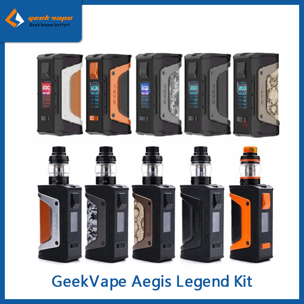 Original 200W GeekVape Aegis Legend Mod/Kit With Aero Mesh Tank 4ml VS Aegis Boost Mesh Coil Electronic Cigarette