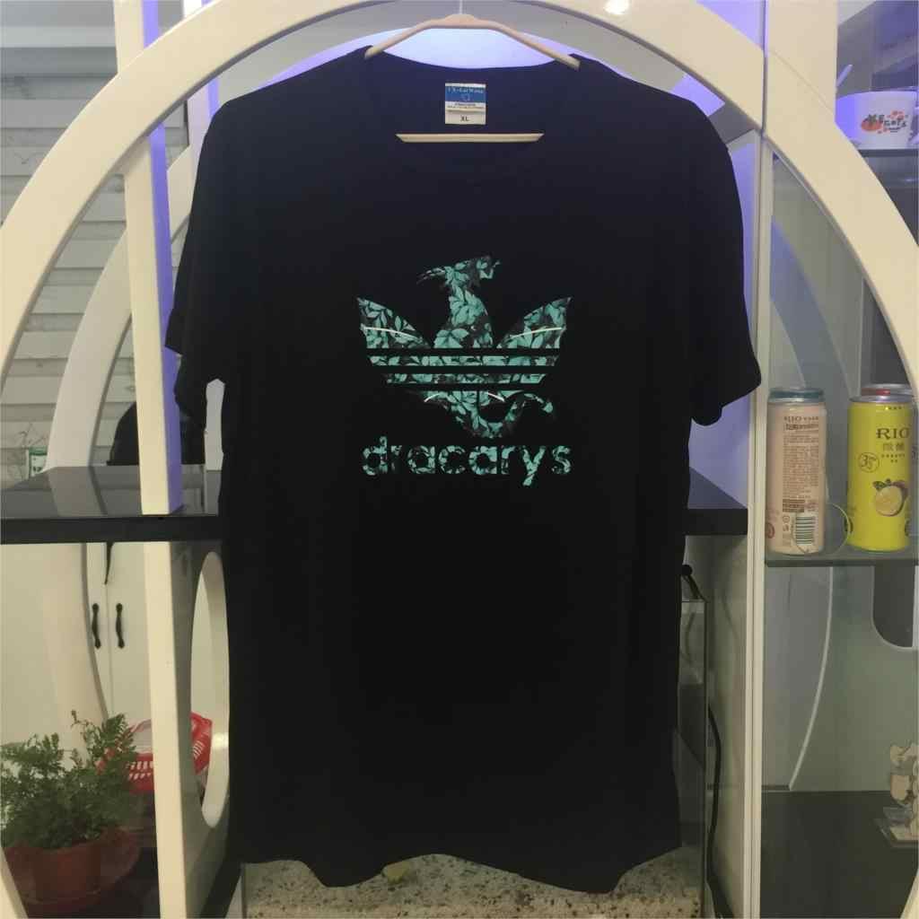 Dracarys T Shirt Original Brand 2019 Game Of Thrones Tshirt T Shirt Wanita Raja Ratu Gadis Teman Mon Hadiah tee