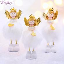 FENGRISE Merry Christmas Decorations For Tree Angel Doll Ornaments 2019 Decor New Year 2020 Kids Gift