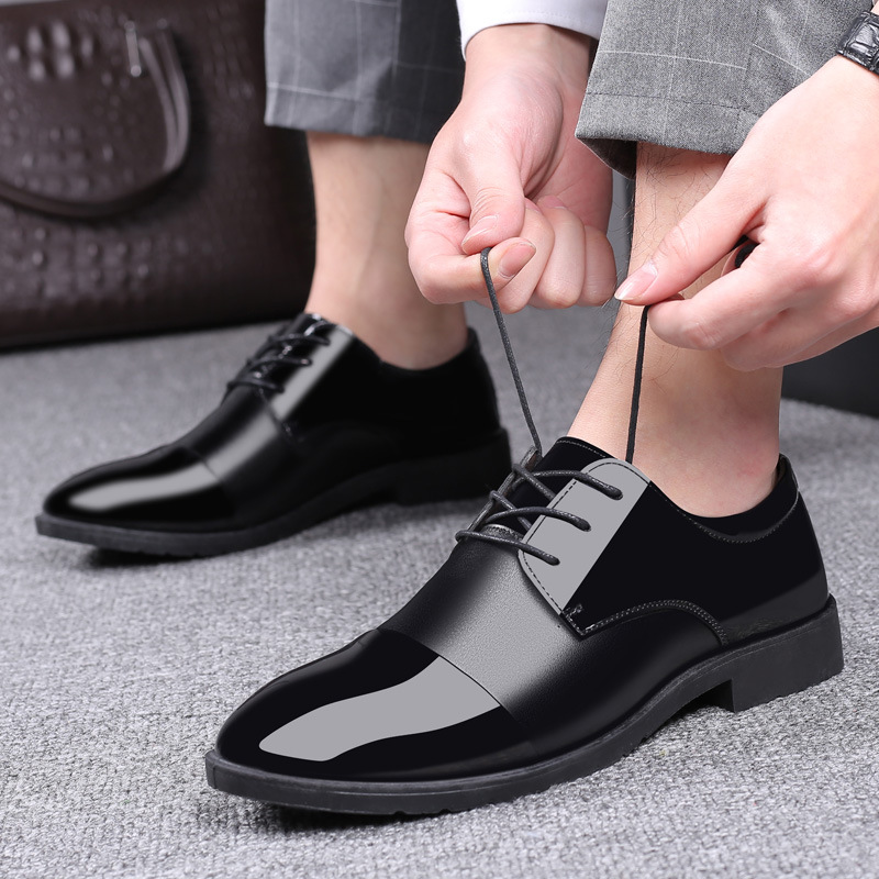 Mazefeng Italian Black Formal Shoes Men Loafers Wedding Dress Shoes Men Patent Leather Oxford Shoes for Men Hommes Pointed Toe image