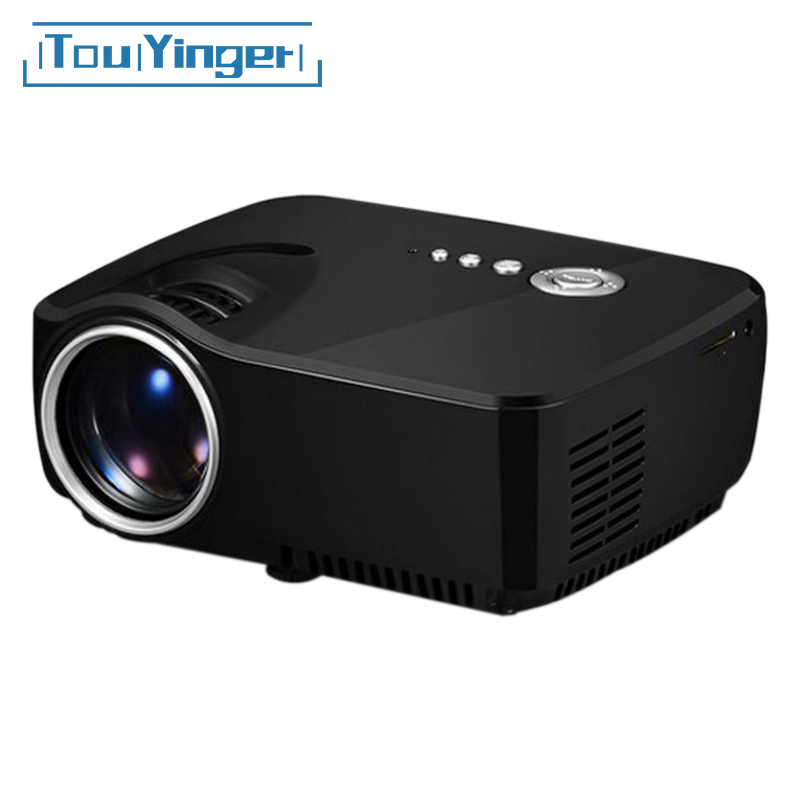 Mini Portable GP70 Projector Support Full HD video Home Theater LED TV Video Game Beamer <font><b>1200</b></font> Lumens LCD Projector USB HDMI VGA image