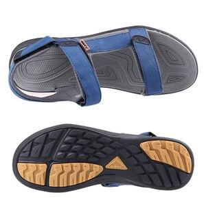 Image 3 - Grition男性サンダル屋外スリッパ男性の靴フラット軽量カジュアルサンダル通気性2020コンフォートシューズ46 #