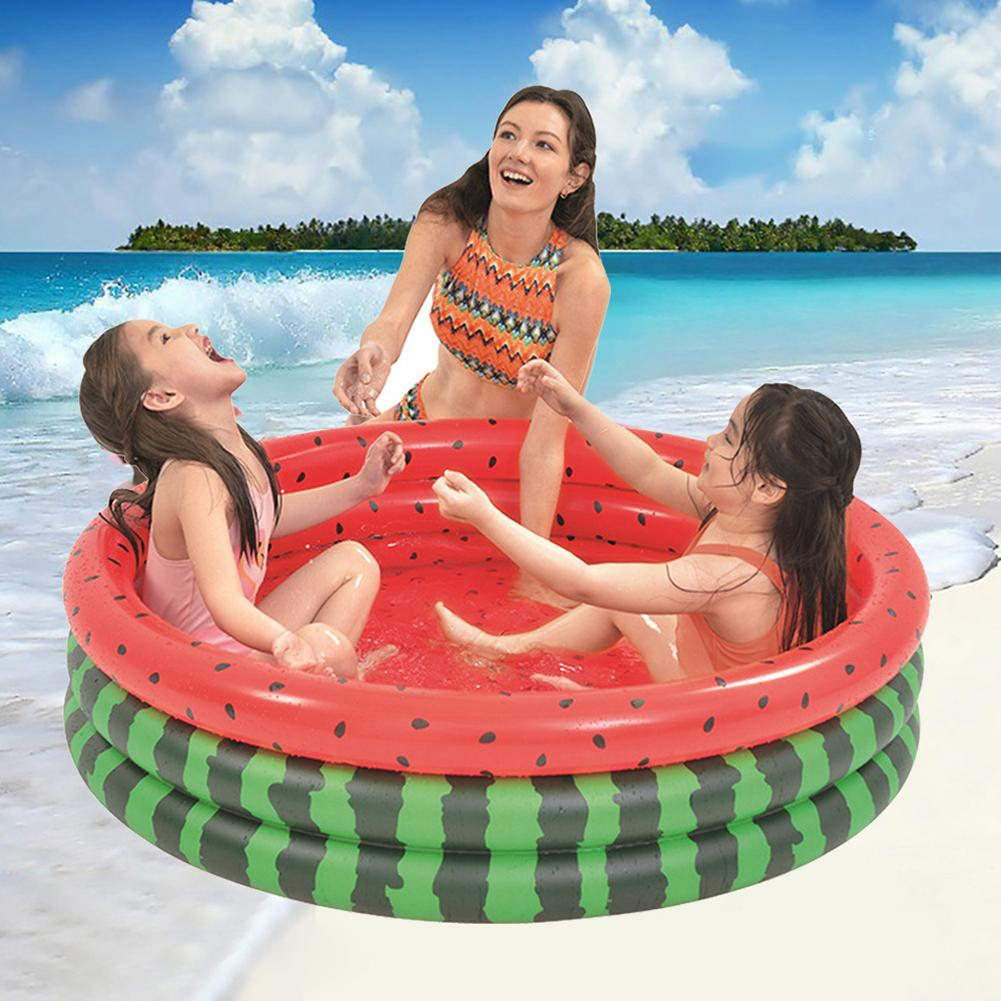 Cute Watermelon Inflatable Children Kids Bathtub Water Play Swimming Pool Toy
