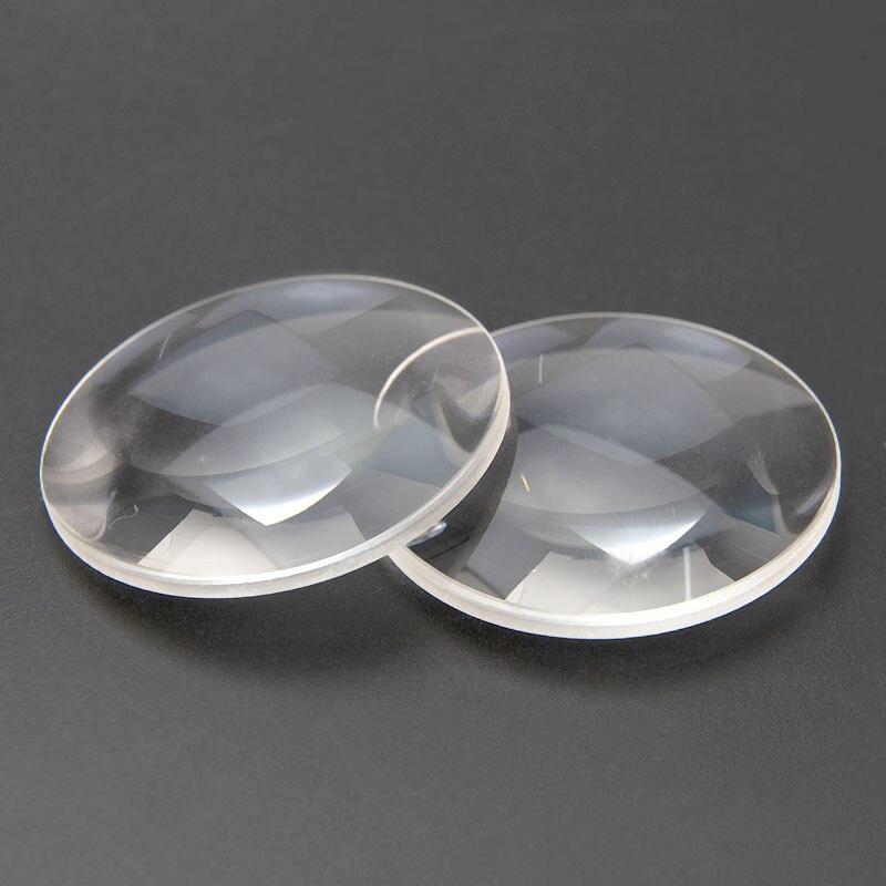 """2vnt 42 skersmens K9 optinio stiklo židinio nuotolis 65 mm dvigubai išgaubto objektyvo 3D akiniai """"pasidaryk pats"""""""