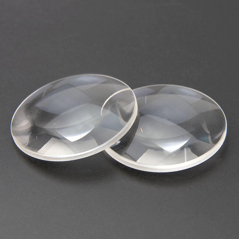 2 piezas 42 diámetro K9 vidrio óptico longitud focal 65 mm doble lente convexa gafas 3D caja de bricolaje