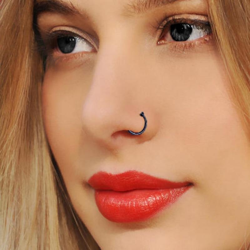 5pcs Titanium Septum Rings Open Small Septum Piercing Nose