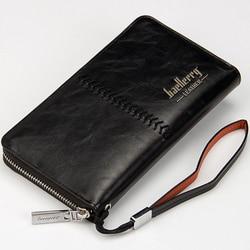 Роскошные Брендовые мужские кошельки, кошелек, сумка для денег, кожаный мужской клатч, кошелек, мужской ремешок, портмоне baellerry carteira masculina ...
