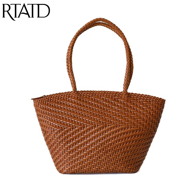 2019 Simple Women Shopping Handbag Handmade Woven Design Women's High Capacity Tote For Female Beach Travel Bags