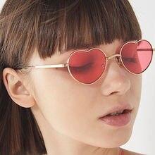 Модный дизайн солнцезащитные очки с сердечком брендовые ретро
