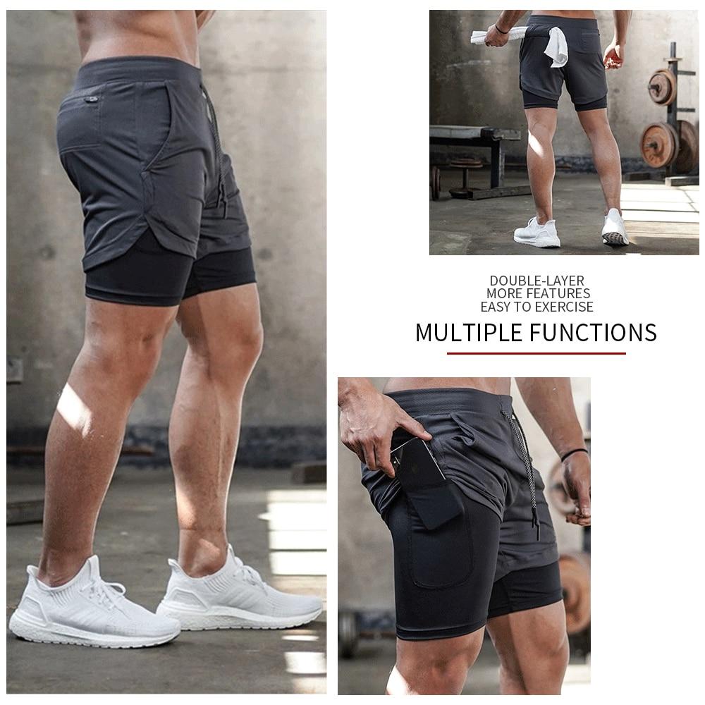 mens 2 in 1 running shorts
