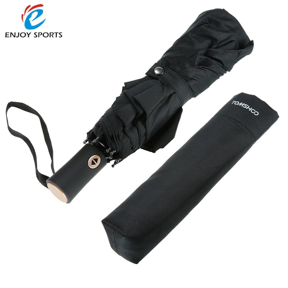 Outdoor Tool Windproof Double Canopy Umbrella Automatic Auto Open Close Black Three Folding Umbrella Rain with 10 Ribs|Outdoor Tools|Sports & Entertainment - title=