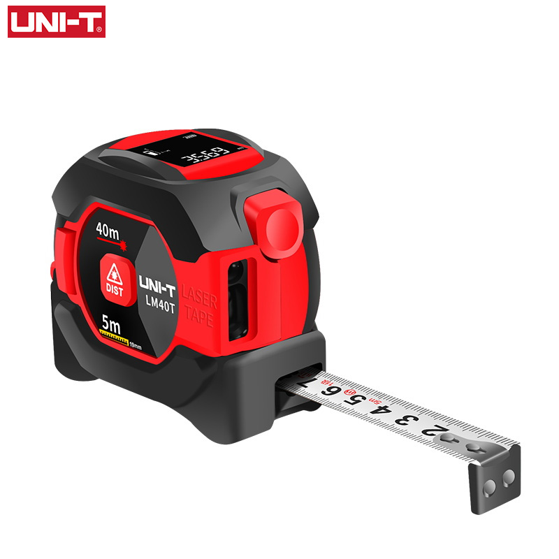 UNI-T 2in1 40m Laser Tape Measure Roulette Distance Meter Rangefinder Electronic Ruler LCD Display Measuring Tool