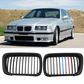 New High Quality Front Matte Black M Style Kidney Grille Grill For BMW E36 M3 3 Series 97-99 New Racing Grills Car styling image