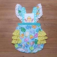 Baby Girl Easter Egg Ruffle Jumpsuit