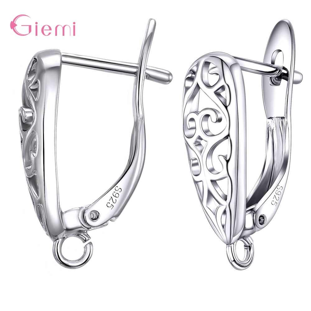 925 Sterling Silver Grosir Fashion Hot Sale Perhiasan Anting-Anting Buatan Tangan Aksesoris 1 Pair/lot Perhiasan Wanita Fitt