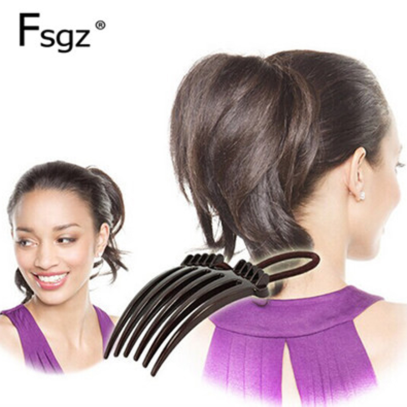 Creative Fountain Flip Ponytail Bouffant Hairstyle Tools Fashion Concise Rubber Band Hair Combs For Pony Headwear Accessories