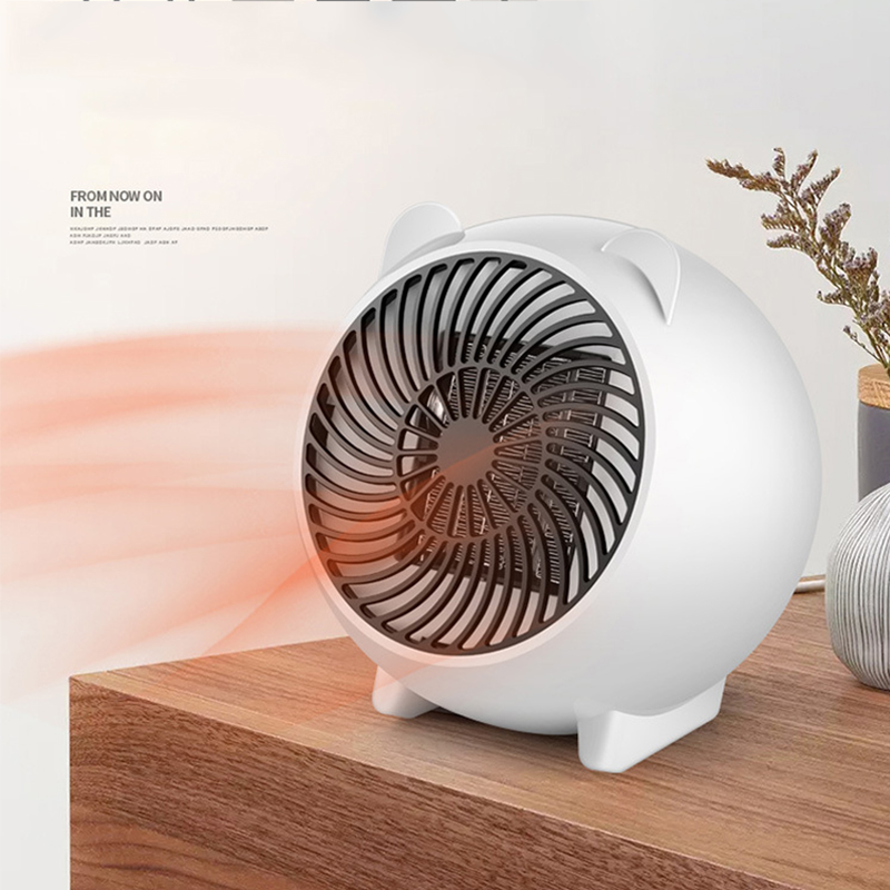250W Mini Fan Heater 3 Seconds Fast Heating Intelligent Temperature Control Electric Heater Home Office Ceramic Small Heaters