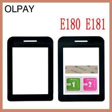 Lentille de téléphone portable pour Philips E180 E181 E311 lentille du panneau avant pas décran tactile en verre avec adhésif gratuit + lingettes