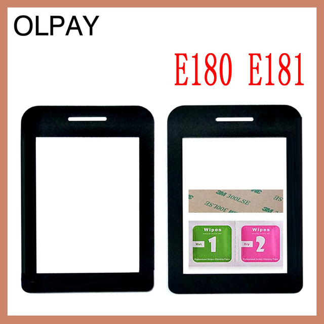 Mobile Phone Lens For Philips E180 E181 E311 Front panel lens Not Glass Touch Screen With Free Adhesive+Wipes