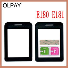 โทรศัพท์มือถือเลนส์สำหรับ Philips E180 E181 E311 แผงด้านหน้าเลนส์ไม่สัมผัสหน้าจอฟรีกาว + ผ้าเช็ดแว่น