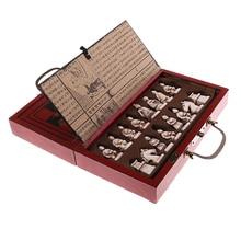 Деревянные антикварные китайские шахматы, набор, семейная настольная игра, игрушки для отдыха, китайские шахматы