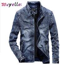 купить Denim Jacket Men 2019 Winter Retro Warm Jeans Jackets Men Cotton Liner Zipper Casual Denim Jacket Men Chic Vintage Mens Jackets дешево
