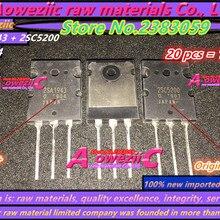 Aoweziic+ 10 пар новые импортные оригинальные 2SA1943 2SC5200 A1943 C5200 TO-3P высокомощный аудио силовой усилитель труба