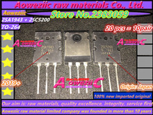 Aoweziic 2019 + 10pair 100% nowy importowane oryginalne 2SA1943 2SC5200 A1943 C5200 TO 3P wysokiej mocy moc dźwięku wzmacniacz rury