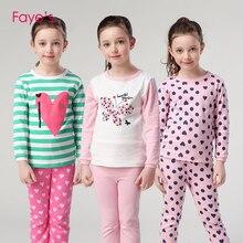 Kids Girls pajamas Sets Pyjamas 3-12 Years Long Sleeve Pijamas Nightwear Baby Girl Clothes Children Clothing