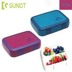 2 szt. Pudełko na lunch dla dzieci z przegródkami Cartoon szczelny pojemnik bento mikrofalowe pojemniki na żywność pojemne pudełko na żywność w Pudełka śniadaniowe od Dom i ogród na