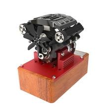 TOYAN V4 двигатель четырехцилиндровый четырехтактный Метанол двигатель FS-V400A Полный выпуск двигатель без Т-образной вилки батареи Электрический ротор