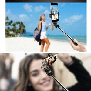 Image 3 - Nieuwe Verbeterde 4 In 1 Draadloze Bluetooth Selfie Stok Universele Uitschuifbare Statief Met Remote Shutter DU55
