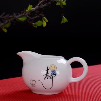 Ceramiczne naczynie na herbatę dzbanek do kawy kreatywny śliczny mnich mały dzbanek do herbaty dzbanek do herbaty dzbanek na mleko tanie i dobre opinie SJZMICAI