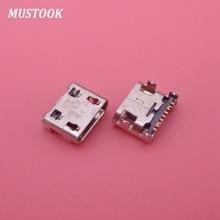 100 adet mikro Mini Usb konektörü jakı soketi şarj portu onarım için Samsung Galaxy I739 I759 I9128 S6810 S7568 S6810P g130HN