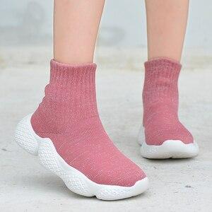 Image 5 - أحذية أطفال موضة 2019 أحذية رياضية للأولاد والبنات أحذية خفيفة للغاية للركض وممارسة الرياضة غير رسمية مزودة بنسيج شبكي للأطفال
