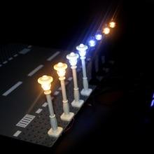 City Street Light Building Blocks LED Lamps 7 Ports LED USB Light-Emitting Classic Brick Compatible All Brands Mini Model Light