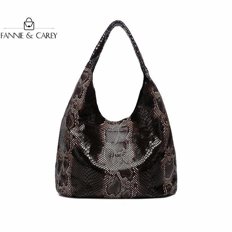 Купить женская кожаная сумка тоут с текстурой змеиной кожи