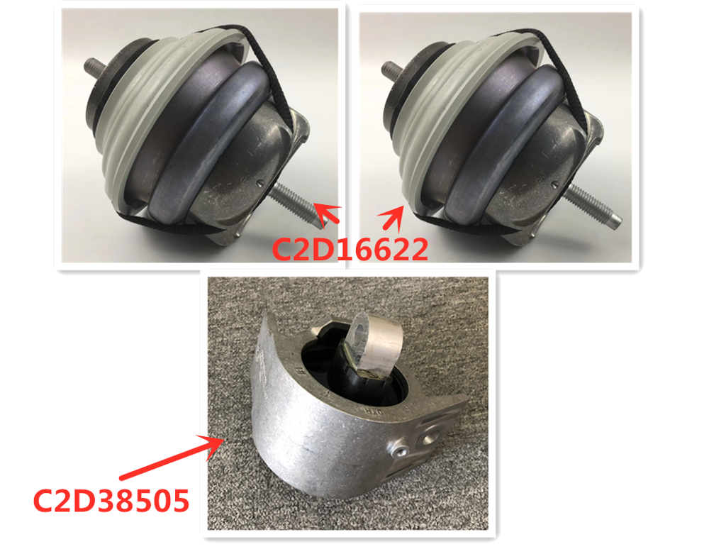 C2D16622 C2D38505 Car Engine Mounting Bracket XJ XJL XFL XF XE F-PA CE XJL Jaguar2.0L Engine Suspension Fixed Mat Cushion Pad